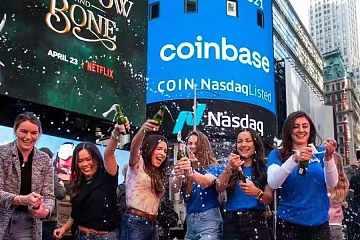 Coinbase成功登陆纳斯达克:高开低走,2个多小时成交额接近300亿美元