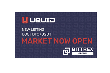 Bittrex Global上线Uquid Coin (UQC)通证