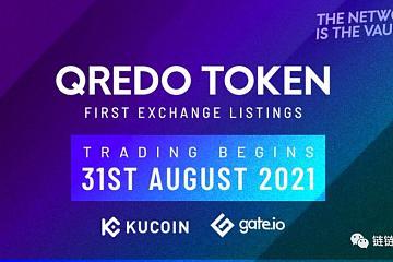 QREDO 将于月底在KUCOIN 与GATE 上市