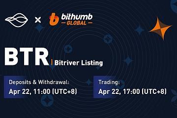 BitRiver能源通证BTR正式登陆Bithumb Global交易所,并开始交易