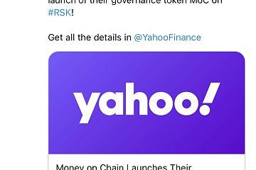 恭喜RSK生态的Defi项目Money on Chain