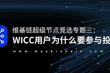 维基链超级节点竞选专题三:WICC用户为什么要参与投票?