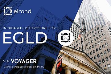 美国合规加密资产经纪商Voyager上线Elrond主网代币eGold